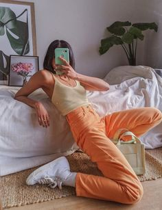 Indie Outfits, Teen Fashion Outfits, Retro Outfits, Cute Casual Outfits, Vintage Outfits, Summer Outfits, Girl Outfits, 80s Fashion, Korean Fashion