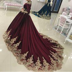 222ad2172 Wedding Hijab Styles, Muslim Wedding Dresses, Bridal Dresses, Muslim Prom  Dress, Wedding