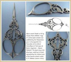 Beautiful antique embroidery scissors!