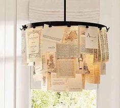 chandelier+postcards+diy+old   Scandinavian Deko: DIY: Chandelier