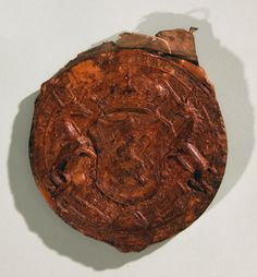 Mary Queen of Scots seal, obverse, 1551,The National Archives reference: SC13/I37.
