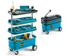 Hazet HZ166N Collapsible Tool Trolley can be a great companion when you work in the garage.