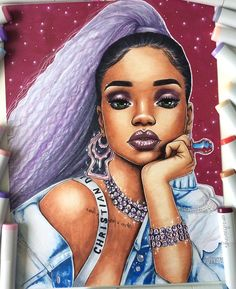 "14.4k Likes, 528 Comments - ✨Emilia✨ (@emzdrawings) on Instagram: ""@badgalriri ⚓️ / Please tag her"""