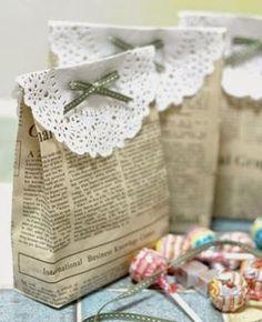 Manualidades y decoracion: Como hacer bolsitas de souvenirs para cumpleaños. bolsitas para cumpleaños.