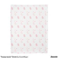 bunny music Duvet Duvet Cover