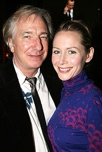 My Name is Rachel Corrie director Alan Rickman was there with his production's star Megan Dodds.