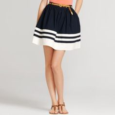poplin full skirt/stripes ... so nautical. @Madison Sharp & @Michelle Sharp ... you both need these!