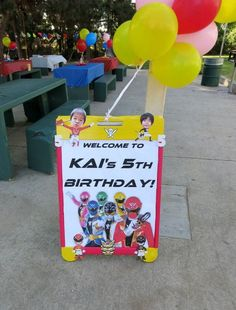Power Rangers Super Megaforce kid's birthday party