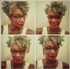 This is gonna be me when I go gray.  LOVE it!
