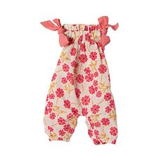 mini bunny clothing - pink flower playsuit - Maileg