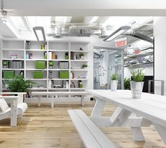 LEMAYMICHAUD | GOOGLE | Montreal | Architecture | Interior Design | Corporate | Office | Work Space | Montreal Architecture, Architecture Design, Interiores Design, Shelves, Space, Google, Home Decor, Shelving, Display