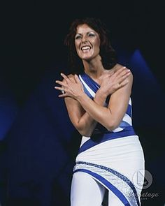 ABBA Tour in Wembley 1979.Frida on stage.