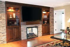 Wall Entertainment Center With Fireplace