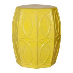 Treillage Garden Stool in Citron design by Emissary