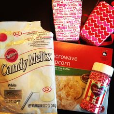 Valentine's Day party popcorn. Easy. Last minute.