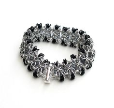 stacked byzantine in silver and black