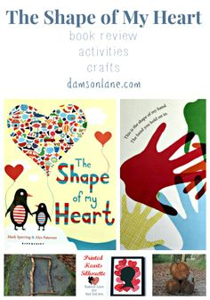 The Shape of My Heart book review, kids crafts and activities from damsonlane.com