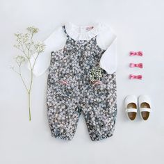Shop our Liberty print Little Mitsi Dungarees today