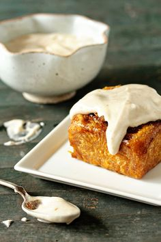 Pumpkin Cinnamon Rolls with Maple Cream Cheese Frosting