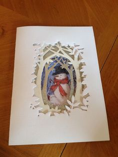 Christmas card handmade Xcut forest scene die