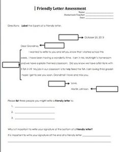 Worksheets Writing A Friendly Letter Worksheet pinterest the worlds catalog of ideas friendly letter assessment