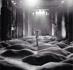 Andrey Tarkovsky on the set of Stalker