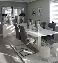 Dining Room Table Decor, Living Room Decor Cozy, Elegant Dining Room, Luxury Dining Room, Living Room Grey, Dining Room Design, Home Living Room, Dining Tables, Dining Rooms