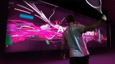 Art & Sound of Tennis and Swing Analysis Installation Date: 8/24/2013 - 9/2/2013  Each year at the US Open in New York City, the American Express Fan Experience…