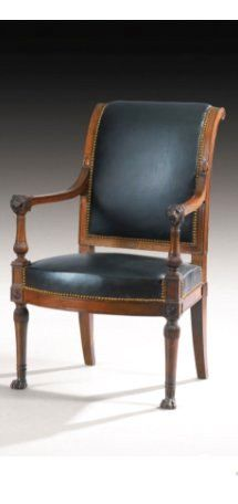 A MAHOGANY SUITE COMPRISING TWO ARMCHAIRS AND A SOFA, STAMPED IB SENE, FRENCH CONSULAT, CIRCA 1799, COMING FOR THE PRINCE-ARCHICHANCELIER JEAN-JACQUES-RÉGIS DE CAMBACÉRÈS (1753-1824)