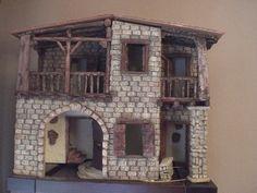Foro de Belenismo - Paso a paso -> Una casita para el belen Villas, Portal, Miniatures, Home Decor, Christmas Manger, Rustic Homes, Patchwork Quilting, Decoration Home, Room Decor
