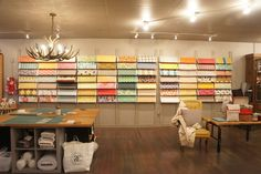 www.fabricnosherie.com | a beautiful fabric store that is sadly closing | Love their layout and fabric display.