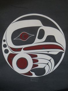 CIRCLE EAGLE , Haida artist, Darrel Amos Native Art, Coastal Art, Haida Art, Tribal Art, Indian Art, Art, Art And Architecture, Pacific Northwest Art, Bird Art