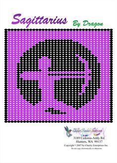 Free Bead Patterns, Zodiac Sagittarius Pattern by Unique Beaded Jewelry
