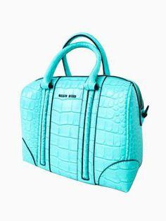 Croco Handbag In Blue