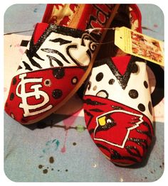 St Louis Custom Toms Shoes by CustomTOMSbyJC on Etsy, $105.00