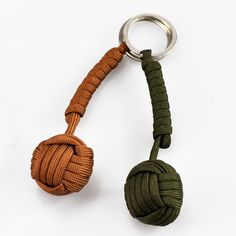 Free Shipping Key Chain Security Protection Monkey Fist Steel Ball Bearing Self Defense Lanyard Survival