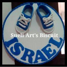 Enfeite Porta de maternidade Biscuit Sueli Art's Biscuit