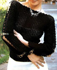 Patrones de Tejido Gratis - Jersey de crochet