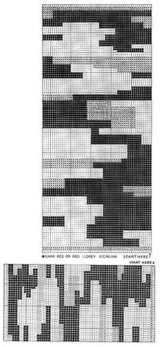 Cliff Dweller Rug Pattern chart