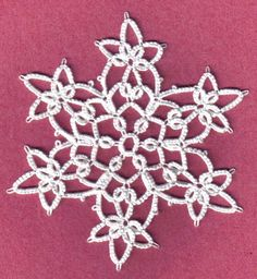 Earlier I posted this snowflake and several people have asked for the pattern.     I did the pattern for it, but I whipped it out in a bit o...