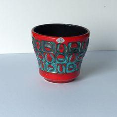 Vintage bloempot 160-13, gemaakt door U-keramik West Germany door PrettyandPreloved op Etsy