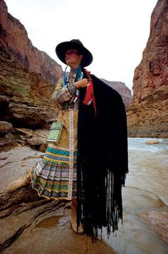The Grand Canyon provides backdrop for Sant' Angelo fashions in a 1970 by Fred Maroon