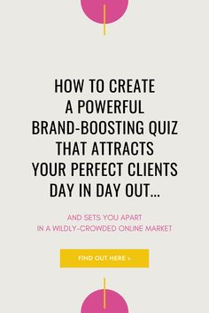 Attract your perfect clients and customers day in and day out with a fun (and effective!) quiz. Set yourself apart in the crowded online market with your own unique, custom quiz. Learn how here. || Brand Archetypes || Brand Storytelling || Branding For Small Business | Branding For Coaches || Branding Ideas || How to brand your business || Brand Archetypes || Brand Storytelling || Branding For Small Business | Branding For Coaches || Branding Ideas || How to brand your business Small Business Resources, Business Advice, Online Business, Digital Marketing Strategy, Online Marketing, Marketing Strategies, Custom Business Signs, Brand Archetypes, Web Design