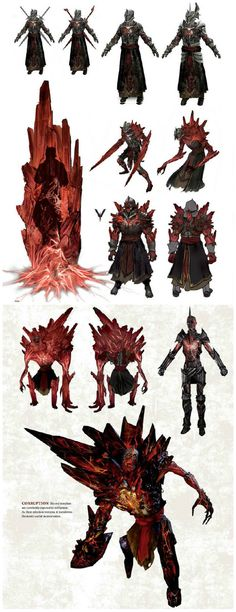 Red lyrium corruption concept art, 'The Art of Dragon Age: Inquisition'