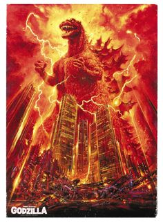 Godzilla poster. Can only be described as epic.