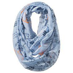 Xhilaration® Believe Print Infinity Scarf - Blue