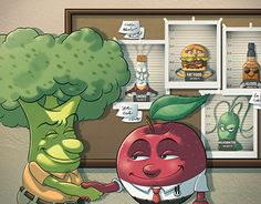 """Check out new work on my @Behance portfolio: """"An Apple a Day... - Magazine illustration"""" http://be.net/gallery/50503085/An-Apple-a-Day-Magazine-illustration"""