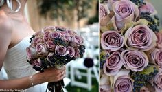 purple and green = wedding colors Wedding Bouquets, Wedding Flowers, Wedding Stuff, Lilac Wedding, Wedding Bells, Wedding Events, Purple And Green Wedding, Lilac Bouquet, Light Pink Rose