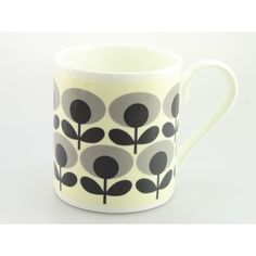 Orla Kiely OK68 Flower Oval Grey Mug Brightly coloured design Ideal gift for Him, Her or Teacher/end of term and thank you. Perfect for Birthday Gift. Can be personalised. £9.50 per mug £4 track and trace postage orders over £40 free delivery