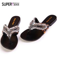 2013 summer new European and American style party mask miu diamond horsehair flat sandals fashion woman word